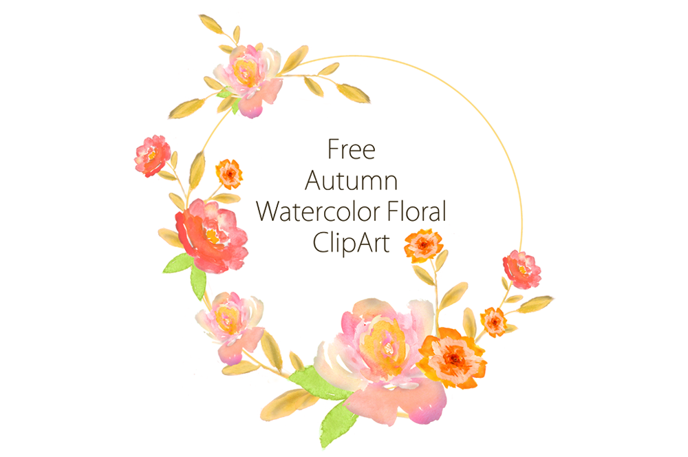 Watercolor clipart. Free autumn by thehungryjpeg