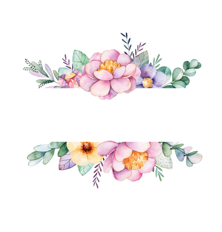 Watercolor flower border png. Pin by weam suliman