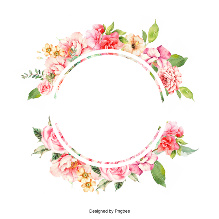 Frame by pngtree on. Watercolor flower border png