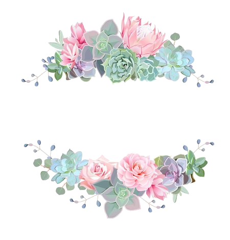 Callygraph arts and crafts. Watercolor flower border png
