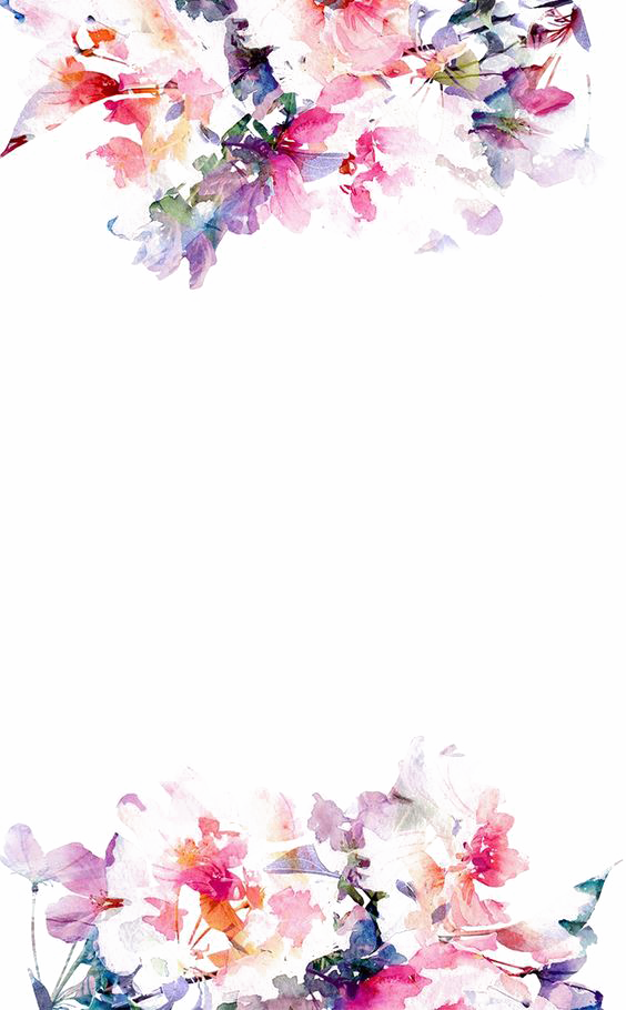 Iphone s paper wallpaper. Watercolor flower border png