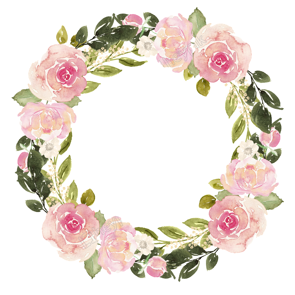 Free matting vector download. Watercolor flower wreath png