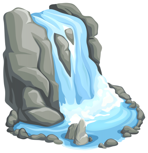 Png clip art best. Waterfall clipart