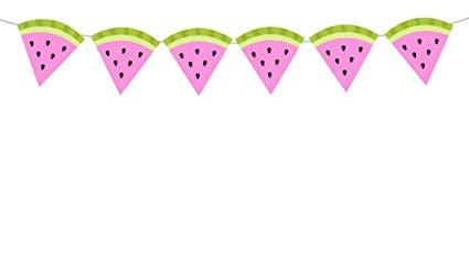 Watermelon clipart banner. Amazon com tall pink