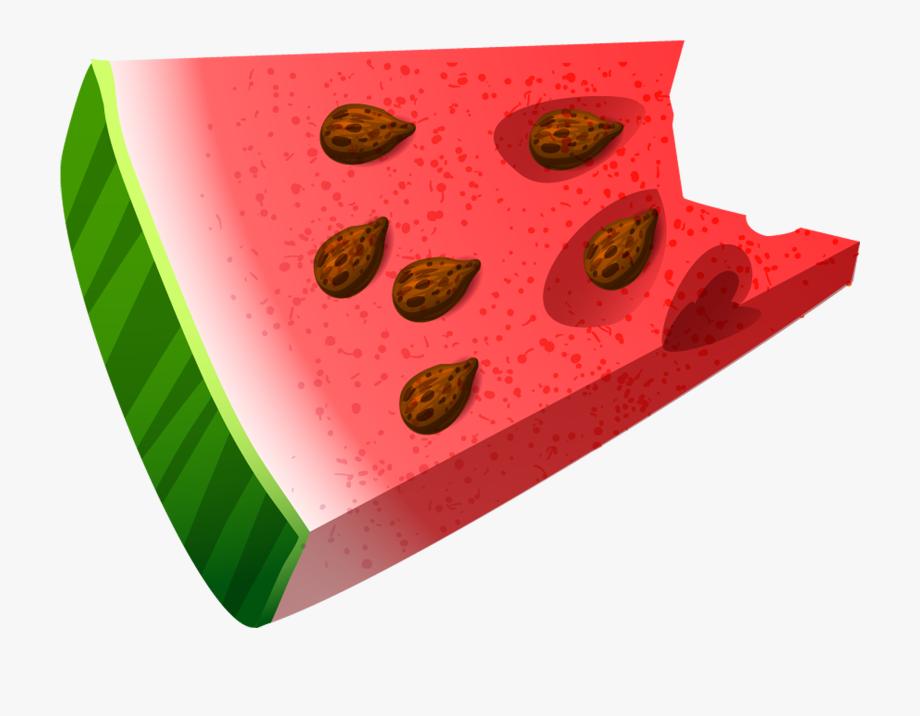 Bitten piece of png. Watermelon clipart bite
