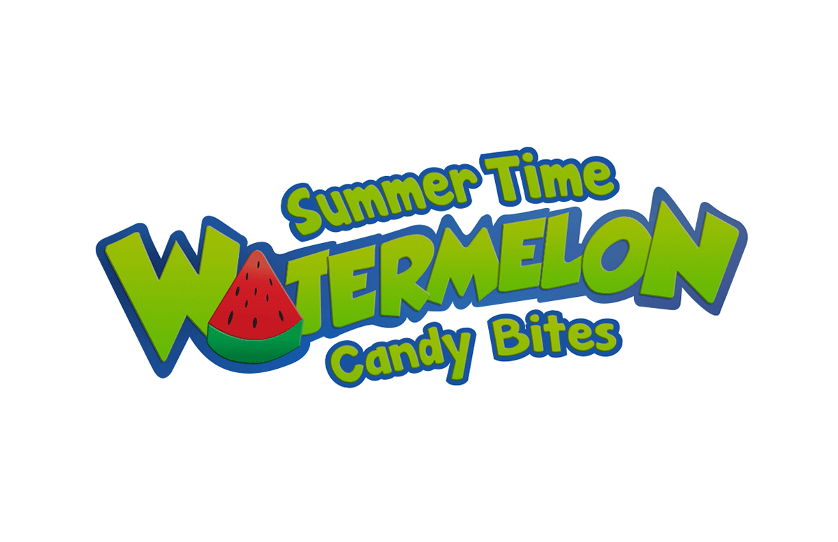 Summer time packaging on. Watermelon clipart bite