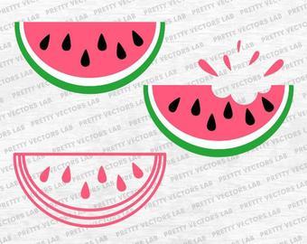 Watermelon clipart bite. Slice svg etsy