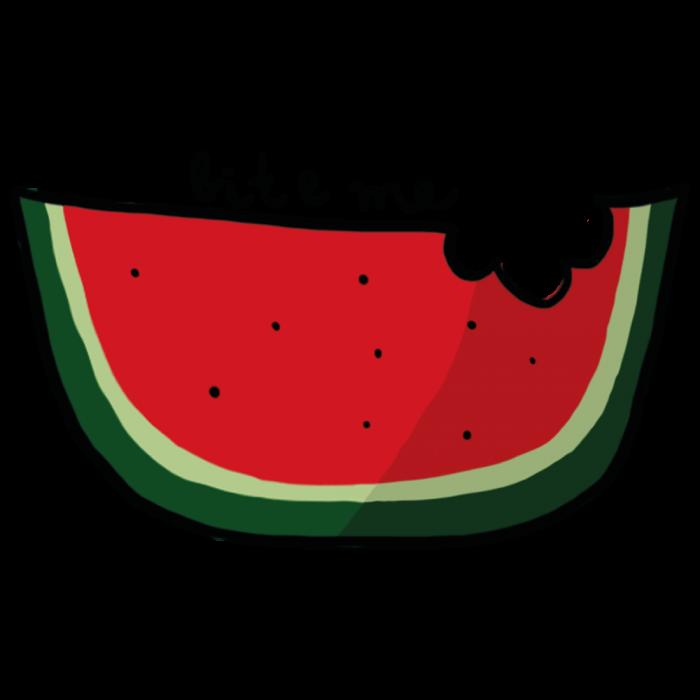 Watermelon clipart bite. Gumtoo designer temporary tattoos
