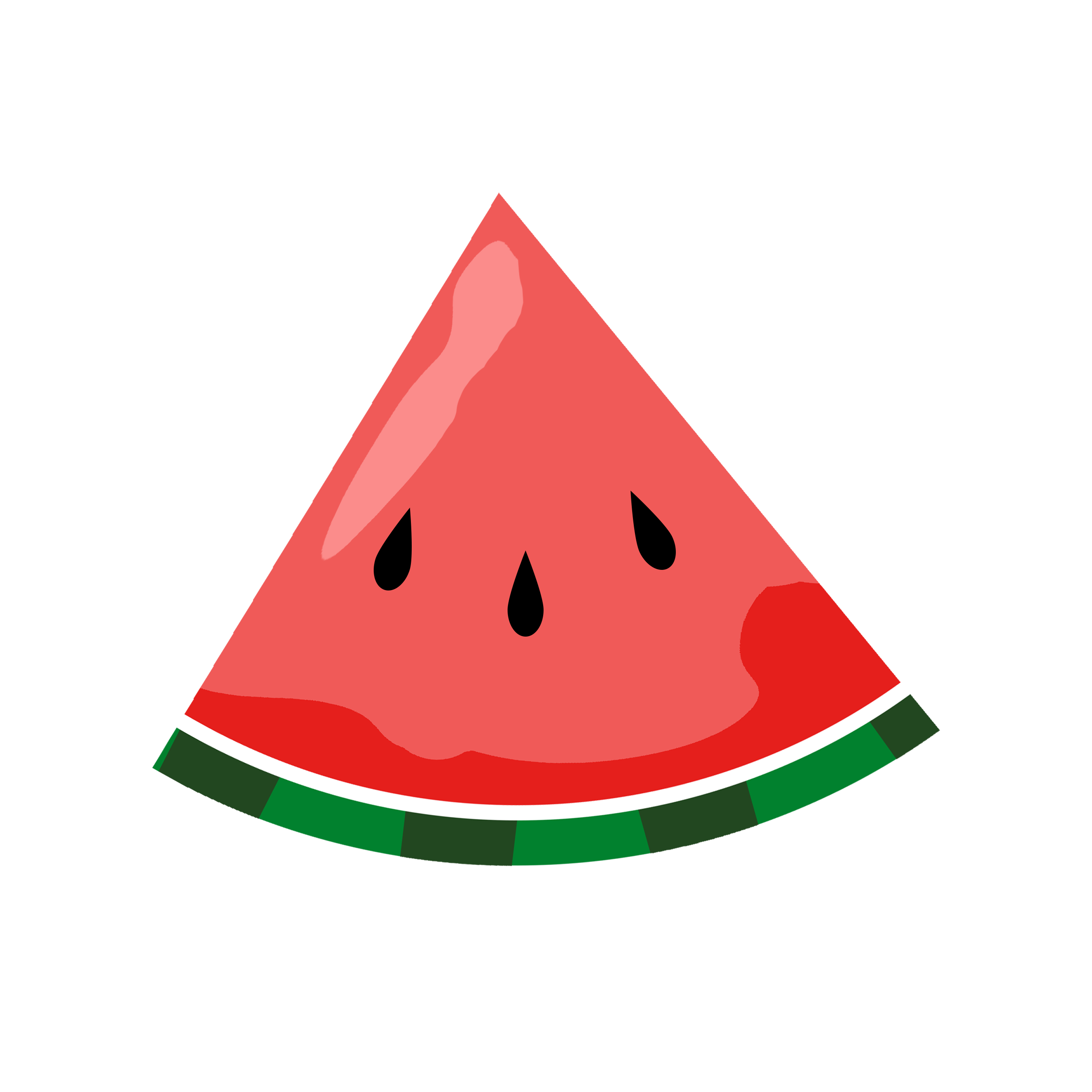 Watermelon clipart border. Play the very hungry