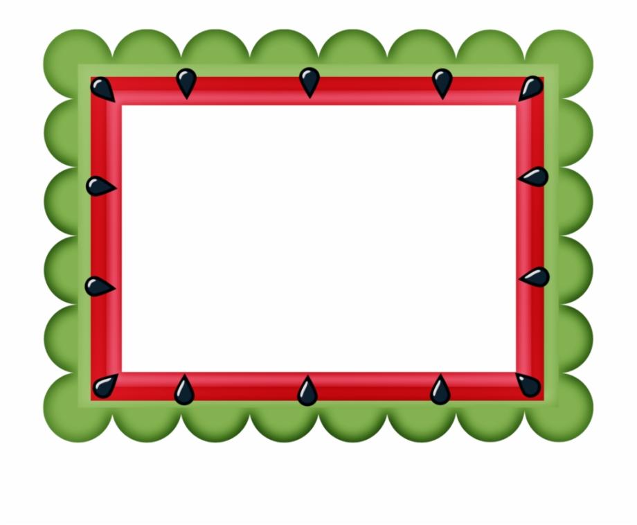 Pin by ken geok. Watermelon clipart border