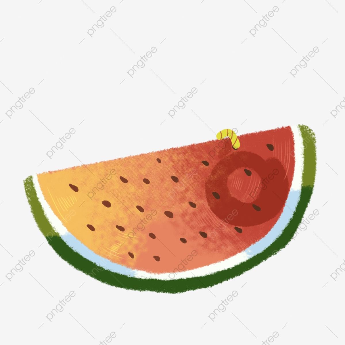 Watermelon clipart broken. Cartoon png download worms