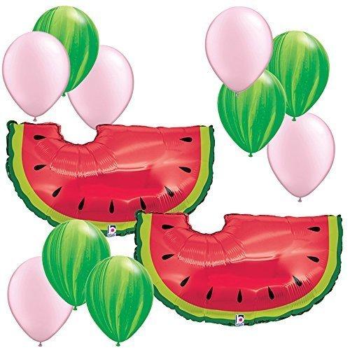 Theme decorations balloons pc. Watermelon clipart broken