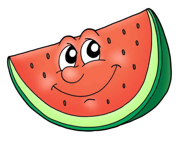 Cartoon clip art library. Watermelon clipart carton