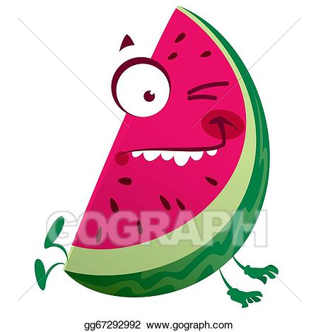 Stock illustration cartoon pink. Watermelon clipart character