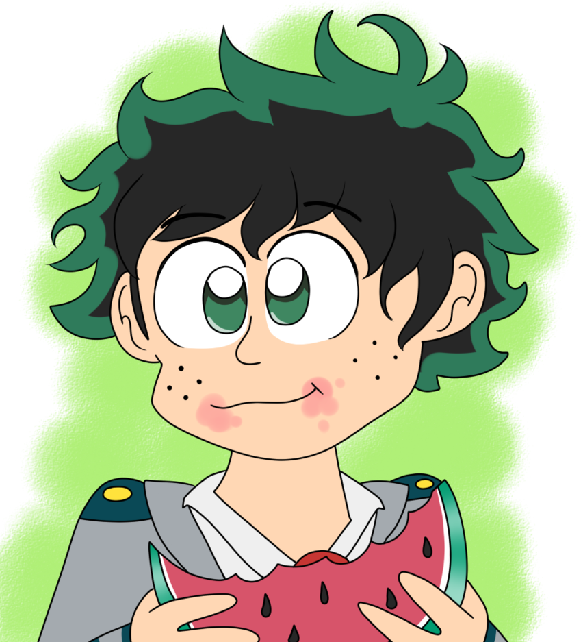 A deku eat by. Watermelon clipart character