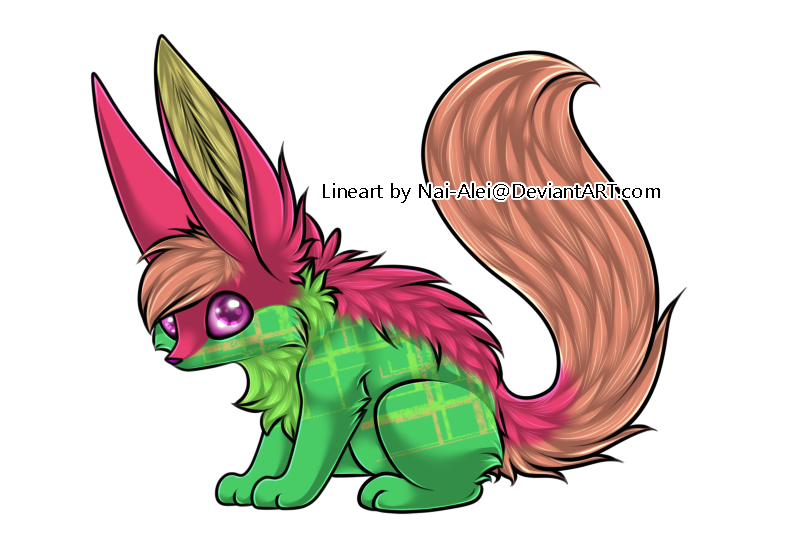 Watermelon clipart chibi. Fox adopt adopted by