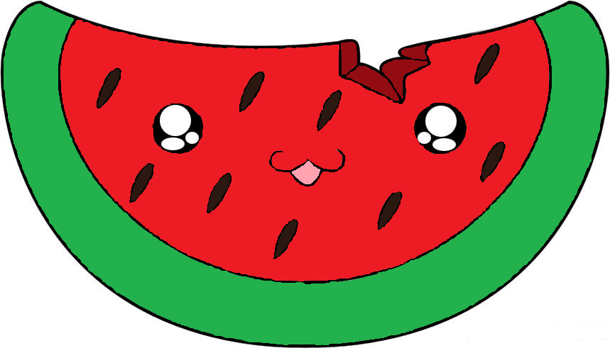 By panda free images. Watermelon clipart chibi