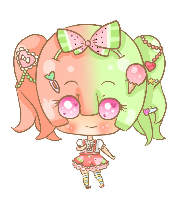 My lolita lola by. Watermelon clipart chibi