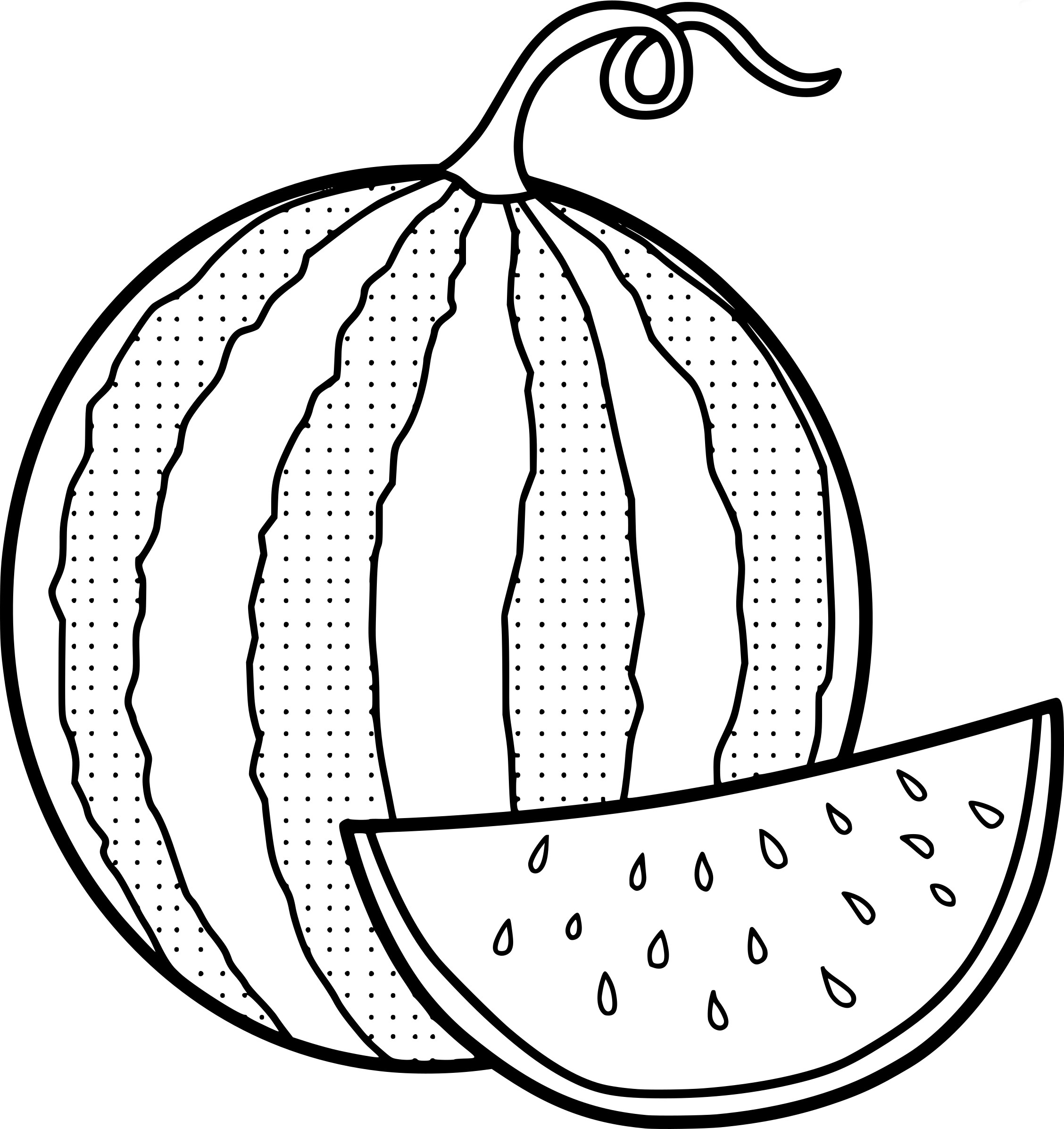 Pages best for kids. Watermelon clipart coloring page