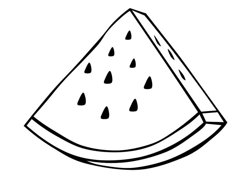 Pages miscellaneous . Watermelon clipart coloring page