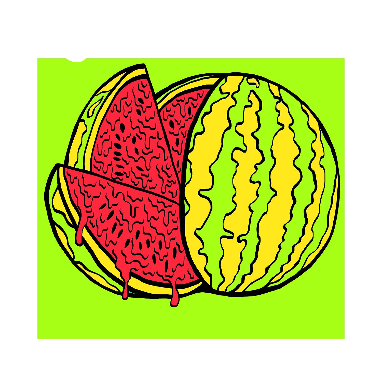 Rotten by grimeandslimeco hand. Watermelon clipart colour