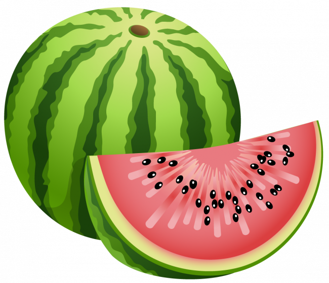 Watermelon clipart easy. How to draw for