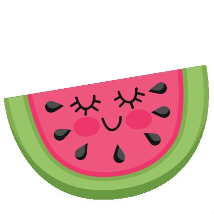 Cute svg scrapbook cut. Watermelon clipart easy