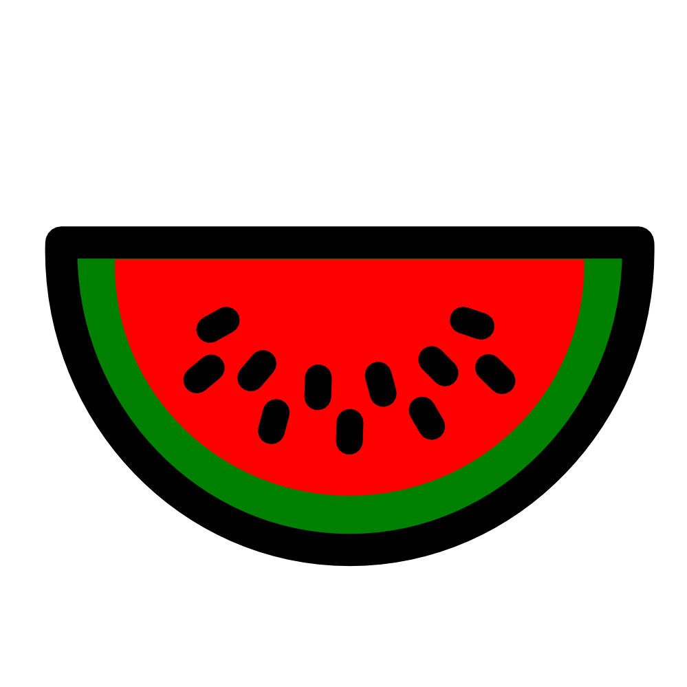 Clipartist net clip art. Watermelon clipart easy