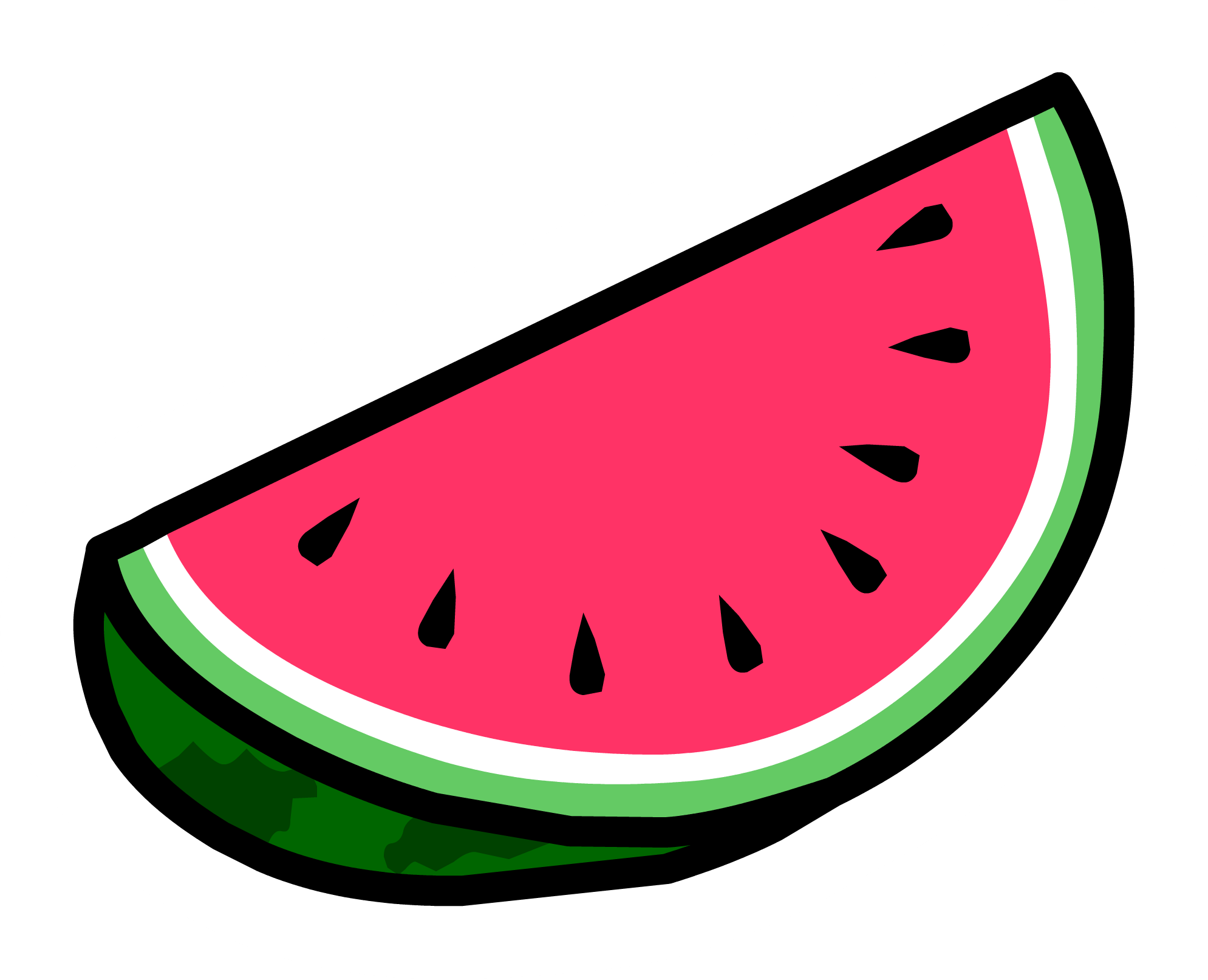 Watermelon clipart emoji.  collection of transparent