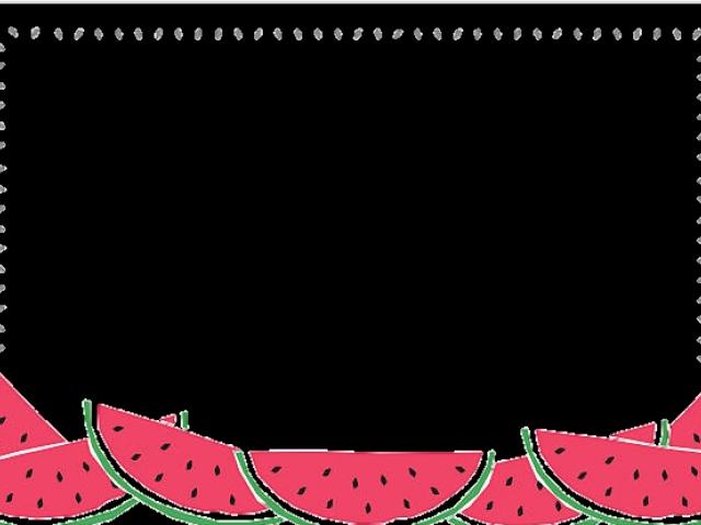 Watermelon clipart frame. Hd polaroid png