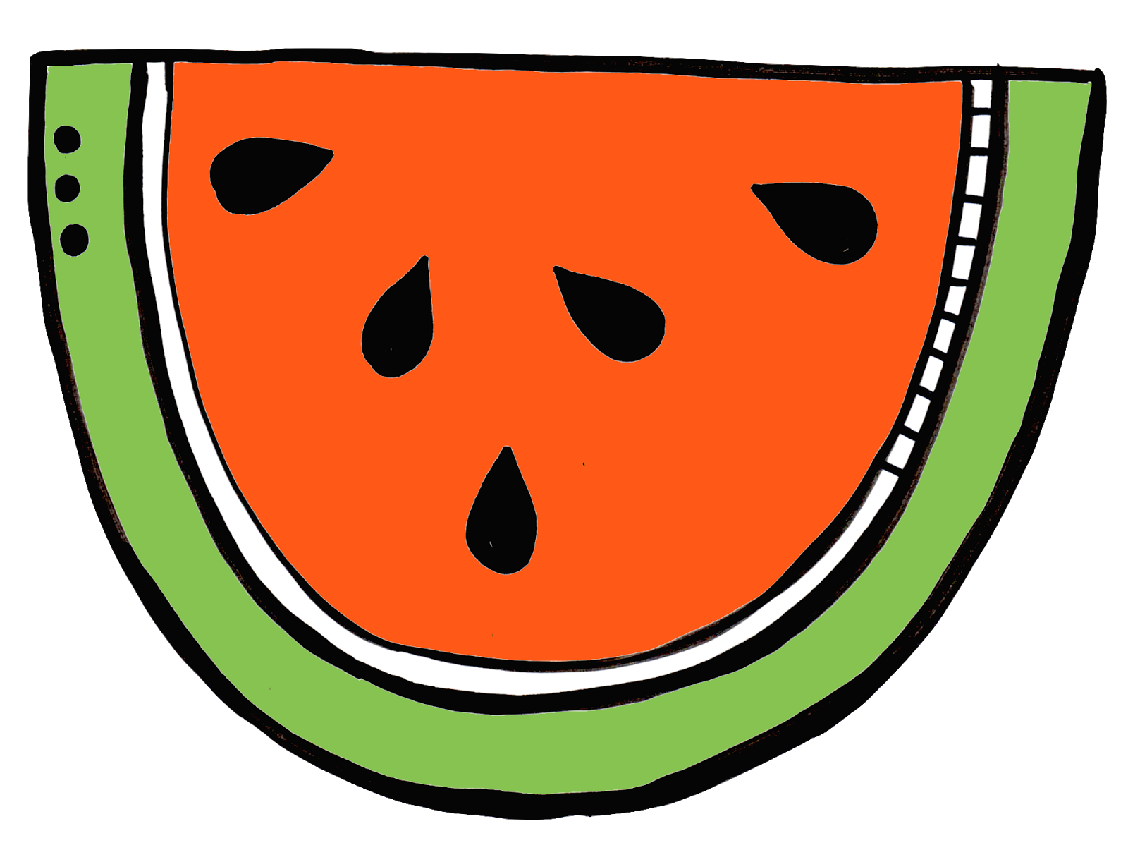 Watermelon clipart gambar. March happiness is shaped