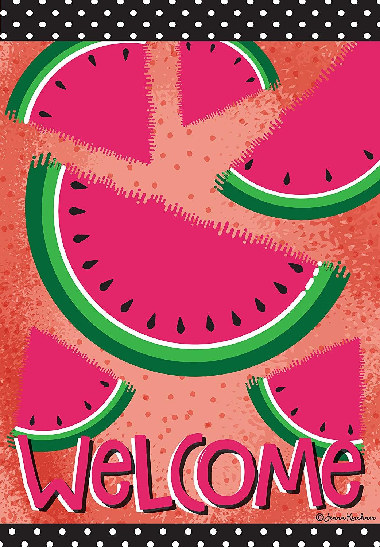 Eastif welcome summer flag. Watermelon clipart garden