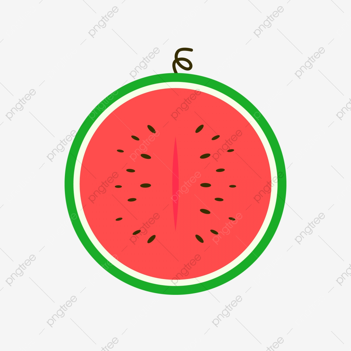 Watermelon clipart half eaten. Red cool in summer