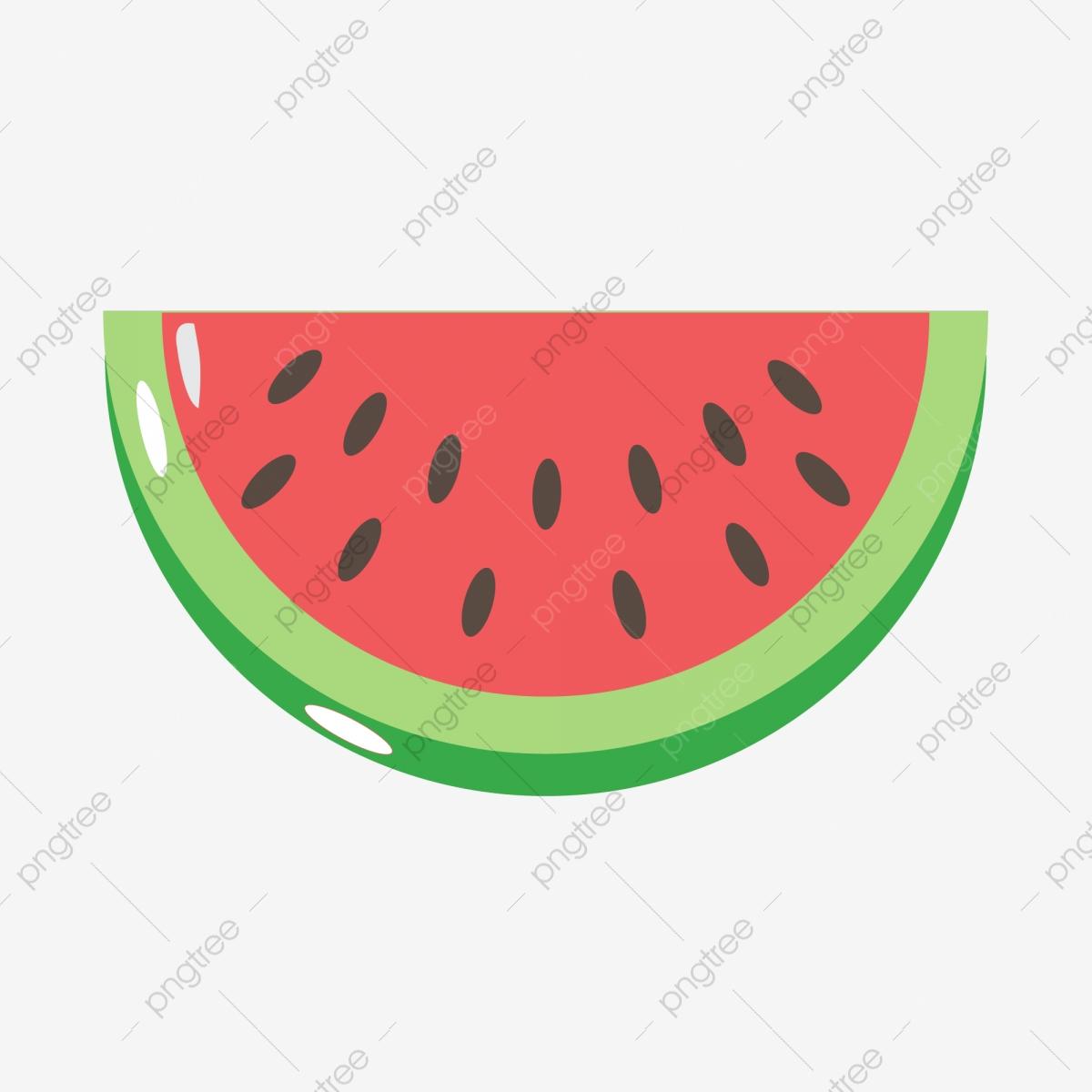 Watermelon clipart half watermelon. Hand painted a summer