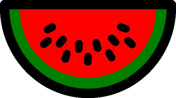 Watermelon clipart half watermelon. Clip art at clker
