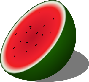 Watermelon clipart half watermelon. Clip art library
