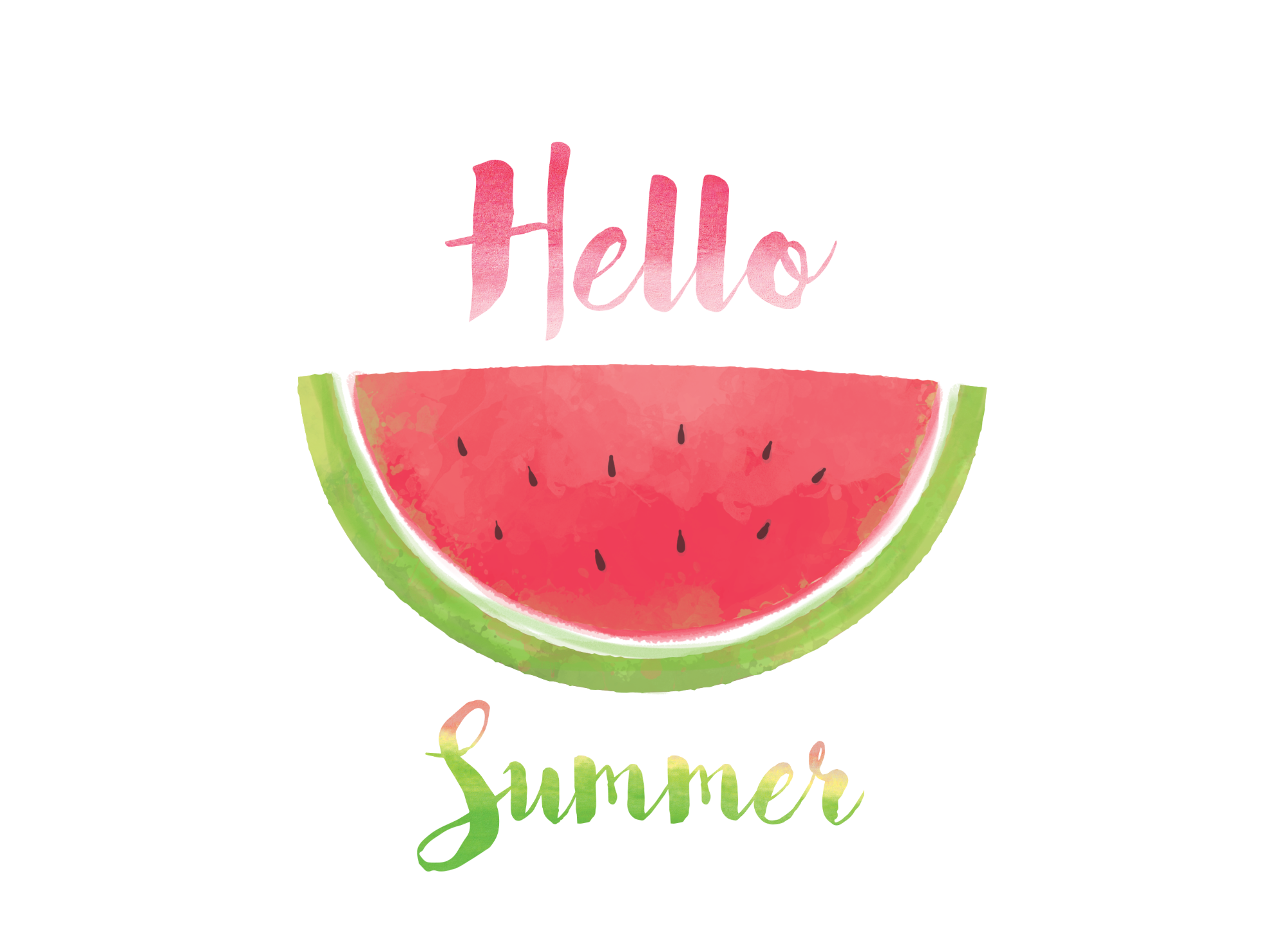 Watermelon clipart hello summer, Watermelon hello summer
