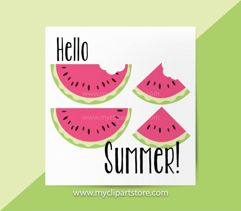 Watermelon clipart juicy watermelon. Slices single fruit sliced