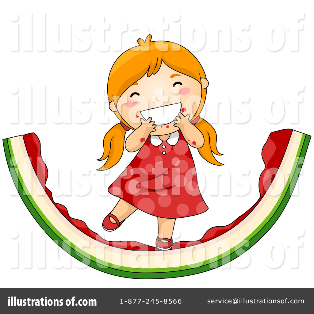 Watermelon clipart kid. Illustration by bnp design
