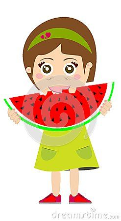 Eating by libux via. Watermelon clipart kid