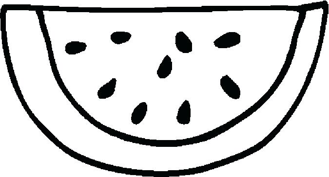 Watermelon clipart line drawing. At getdrawings com free