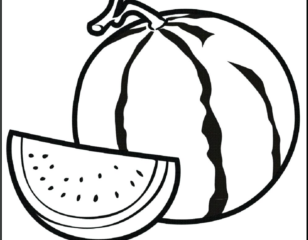 Watermelon clipart line drawing. At paintingvalley com explore