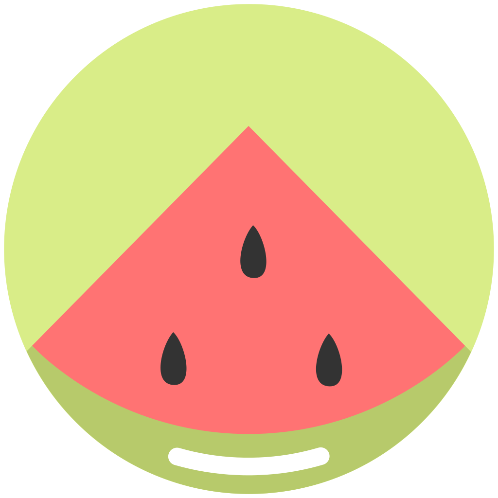 Icon fruit iconset alex. Watermelon clipart minimal