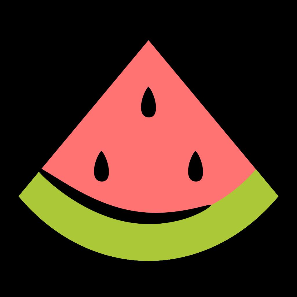 Watermelon clipart minimal. Icon fresh fruit iconset