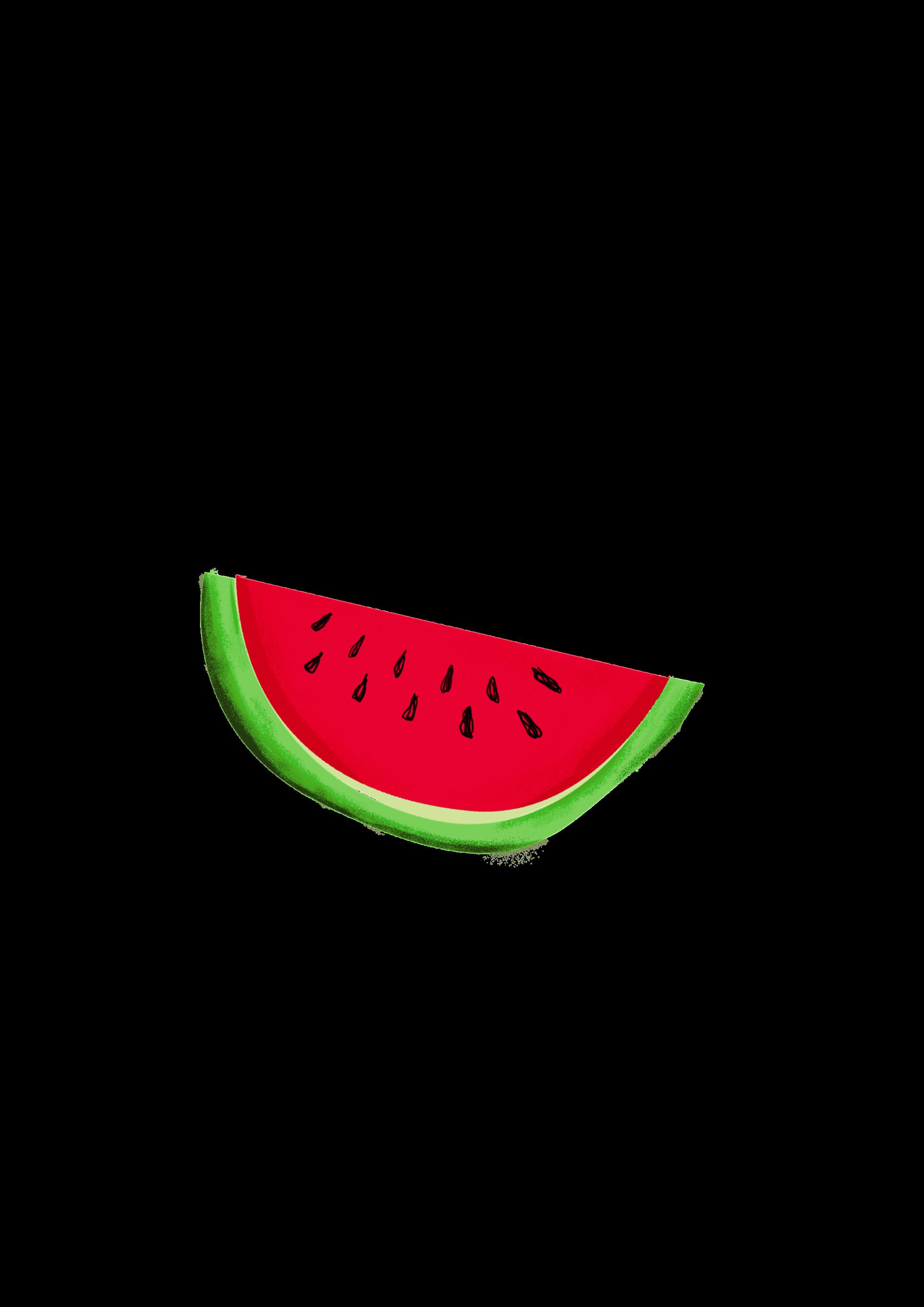 Inkess. Watermelon clipart minimal