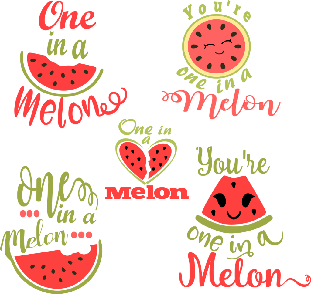 A svg files pinterest. Watermelon clipart one in melon