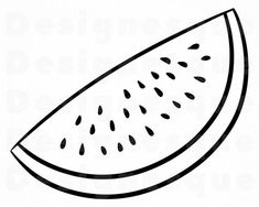 best images in. Watermelon clipart outline