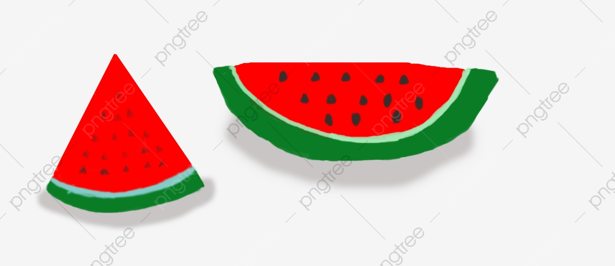 Watermelon clipart oval. Summer big two triangle