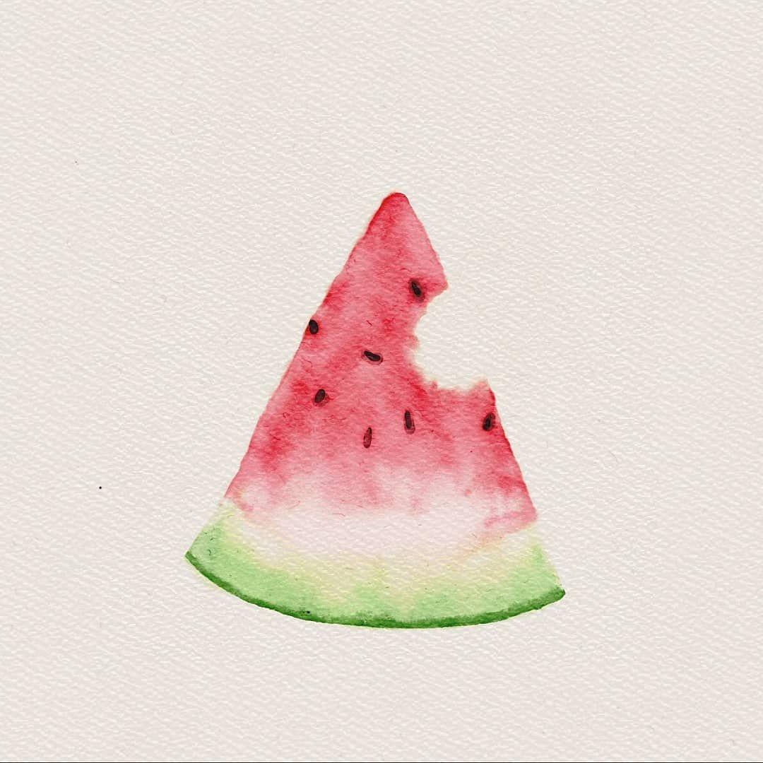 Watermelover . Watermelon clipart pastel
