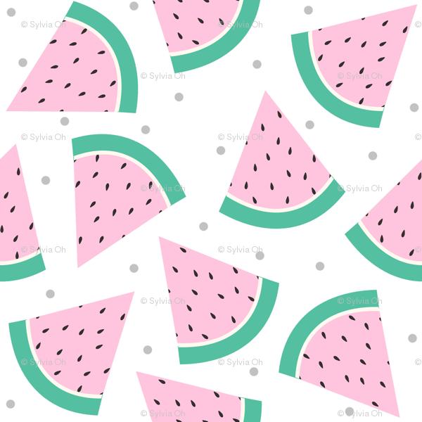 Watermelon clipart pastel. With grey confetti wallpaper